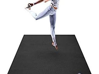 Premium large Yoga Mat   6  x 4  x 8mm Extra Thick   Comfortable  Non Toxic  Non Slip  Barefoot Exercise Mat   Yoga  Stretching  Cardio Workout Mats for Home Gym Flooring  72  long x 48  Wide