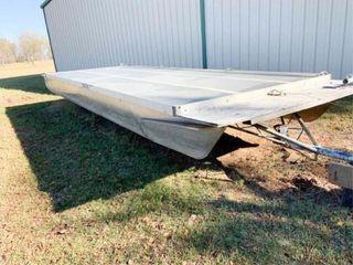 8IJx24IJ pontoon deck with trailer