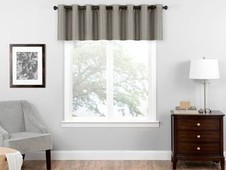 Eclipse Bryson Room Darkening Window Valance Grey