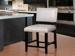 linon Home Garrett Dove Grey Wood  Foam  Fabric Counter Stool Retail 111 49