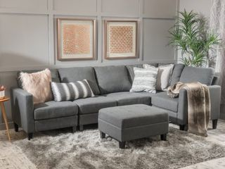 Zahra Fabric Sectional   Ottoman Only