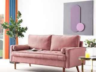 Pink Ovios High Back Sofa