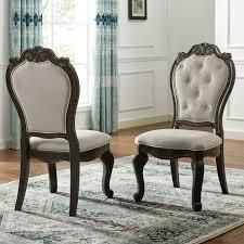Two Dark Molasses Raymond Side Chairs