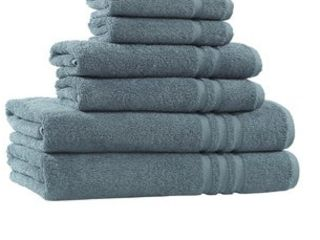 Copper Grove Tracadie Cotton 6 piece Terry Bath Towel Set Medium Blue