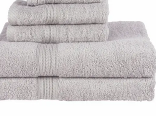 Copper Grove Tracadie Cotton 4 piece Terry Bath Towel Set Gray