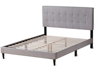 Ayrum Bed Frame w  Tufted Headboard   Queen