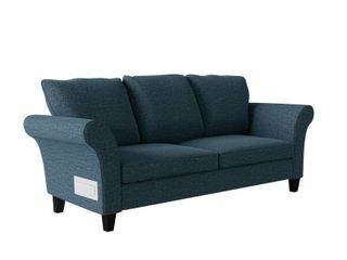 Blue Chenille Sofa w  USB   Power Ports