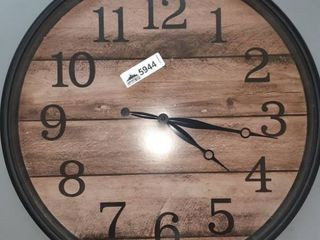 Wooden Panel Black   Brown Wall Clock