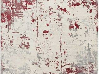 Red Allure Area Rug 6ft6in x 9ft6in