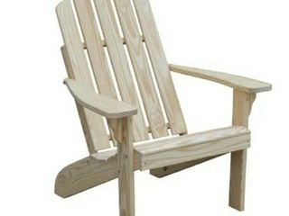 Unfinished Wooden Adirondack Chair