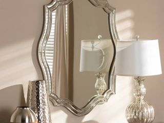 Art Deco Antique Silver Wall Mirror