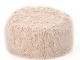 lachlan Glam 5 Foot Gray Faux Fur Bean Bag Chair by Christopher Knight Home Retail 209 99