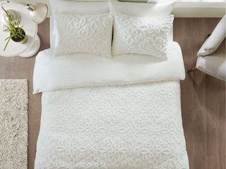 Villach Tufted Cotton Chenille Duvet Cover   Queen