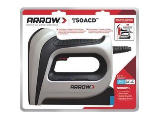 Arrow Fastener DIY Electric 16 Ga  3 8 in  Staple Gun Gray