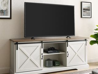 Sliding 58in Barn Door TV Console