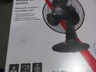 Utilitech 12 in 3 Speed Indoor Black Desk Fan RETAIl  19 98