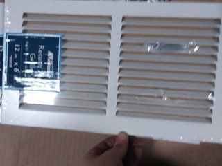 Accord Ventilation White louvered Baseboard Grilles  Rough Opening  6 in x 12 in  RETAIl  6 98
