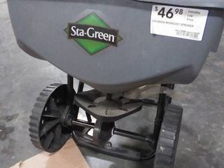 Sta Green 32 lb Broadcast Spreader RETAIl  46 98