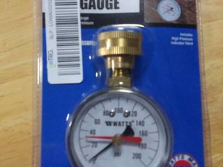 Watts Water Pressure Test Gauge Brass 3 4 in Mght Pressure Relief Valve RETAIl  9 96