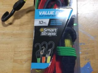 SmartStraps 10 Pack Assorted length Bungee Cord RETAIl  18 48