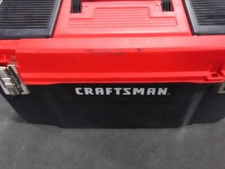 CRAFTSMAN DIY 20 in Red Plastic lockable Tool Box RETAIl  17 98