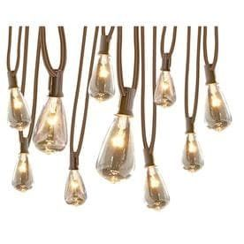 allen   roth 12 ft Clear Plug In Edison String lights RETAIl  24 98
