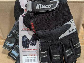 KINCO CARPENTER GlOVES SIZE MEDIUM   6 PARIS NEW IN BOX