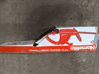 HOMElITE 17  ElECTRIC HEDGE TRIMMER