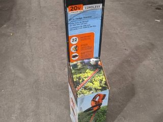 Black   Decker 22  Cordless Hedge trimmer  Tool Only