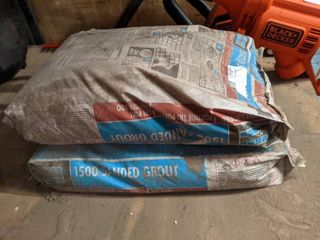 2  25 lbs Bags Of Sanded Grout  Mocha