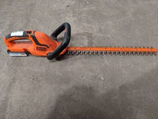 Black   Decker 20v Max 22  Hedge Trimmer  Tool and Battery NO Charger