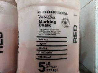 TRUE lINE MARKING CHAlK  19  5 lbs Jugs