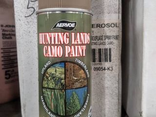 CAMO SPRAY PAINT   HUNTING lANDS CAMO PAINT   lOT OF 12 CANS COlOR IS ClAY
