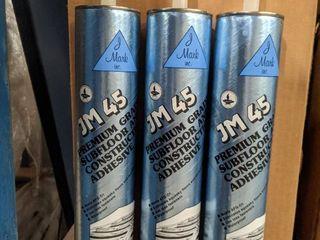 36  TUBES OF J MARK JM45 PREMIUM GRADE SUBFlOOR AND CONSTRUCTION ADHESIVE