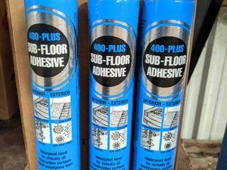 36  1 qt Tubes of 400 Plus Sub Floor Adhesive