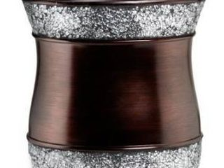 Elegant Oil Rubbed Bronze Cracked Glass Bath Accessory Collection