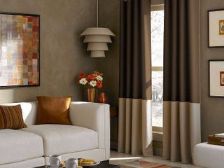 1 panel  Kendall Color Block Grommet Curtain Panel