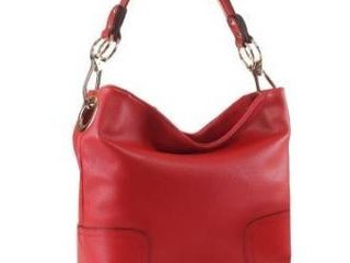Red  MKF Collection Amily Soft Vegan leather Hobo Bag by Mia K