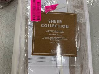 1 pair  BHF Sheer Collection 100  polyester curtain panels