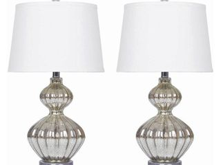 Silver Mercury Glass 23 5 inch Table lamp  Set of 2  By Abbyson Retail 119 99