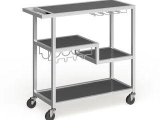 Carbon loft Glenn White Metal Bar Cart Retail 137 99