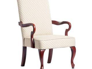 Missing hardware  Copper Grove Casalis Cherry Finish Gooseneck Accent Chair Dayton Beige Retail 183 99