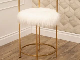 Silver Orchid Banks Faux Fur 30 inch Counter Stool Retail 109 99