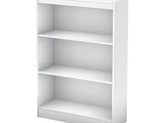 South Shore Pure White Axess 3 shelf Bookcase Retail 84 99