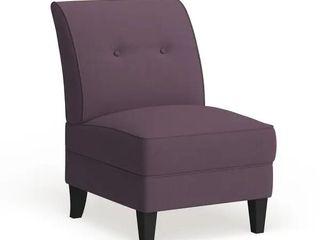 Null  Porch   Den Pope Street Amethyst Purple linen Armless Chair Retail 184 99