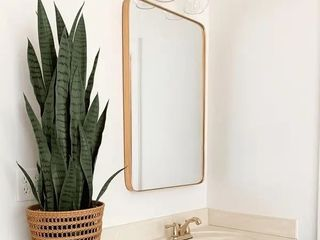Gold  Rounded Corner Mirror   Highland Retail 175 49