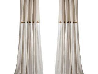 1 panel  lush Decor linen Button Window Curtain Single Panel