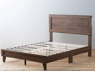 Twin brookside leah classic wood platform bed