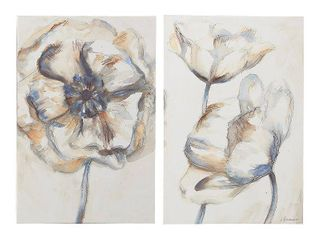 32 x 1 5 x 24 in  FirsTime   Co  Poppy Blossom Canvas 2 Piece Set  American Crafted  Multi Color Watercolor  Canvas  32 x 1 5 x 24 in