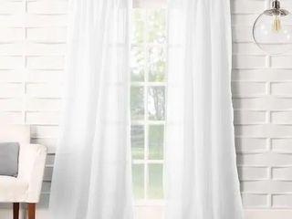 1 pair  No  918 ladonna Rod Pocket Solid Semi Sheer Window Curtain Panel